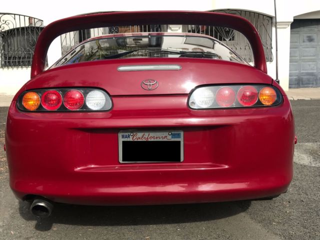 1993 Red Toyota Supra Convertible with Black interior