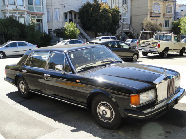 1994 Black Rolls-Royce Silver Spirit/Spur/Dawn Sedan with SADDLE COLOR interior