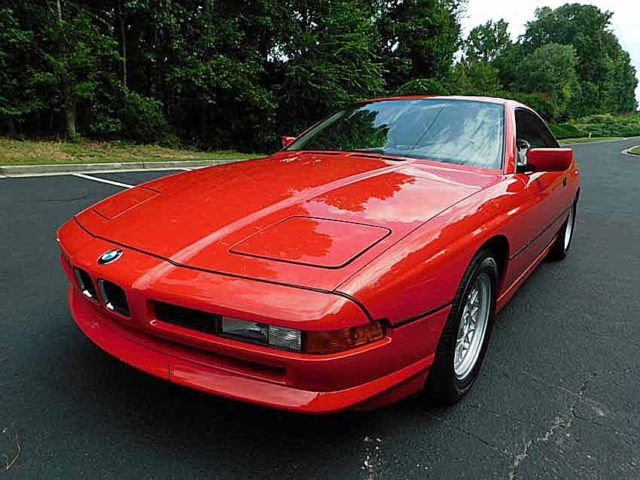 1994 Red BMW 8-Series Hardtop Coupe with Beige interior