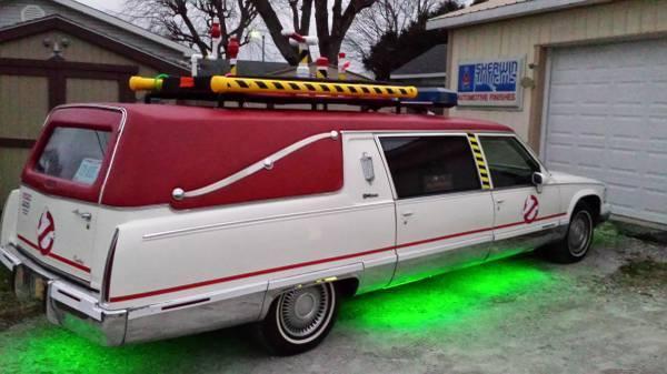 1994 cadillac hearse ecto 1 for sale photos technical