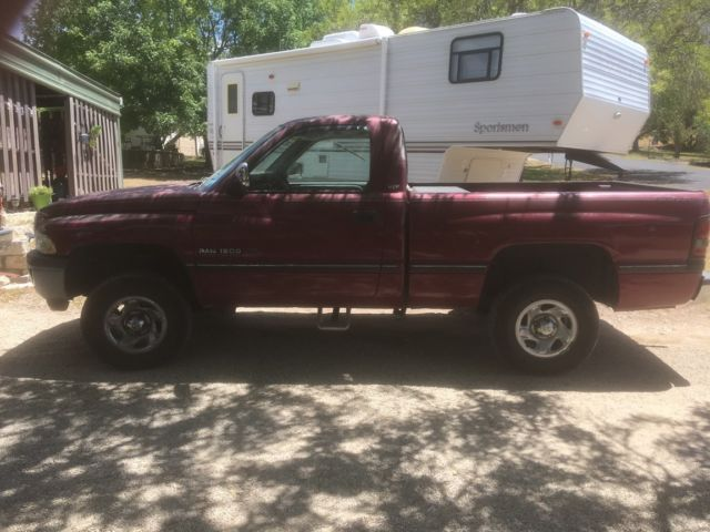 1994 red Dodge Other Pickups Standard Cab Pickup with grey interior