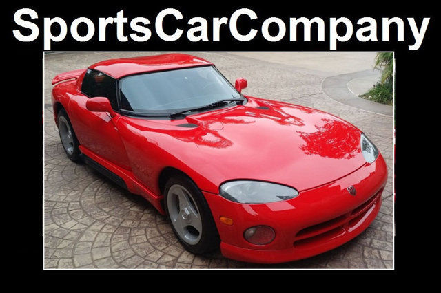 1994 Red Dodge Viper Convertible with Gray interior