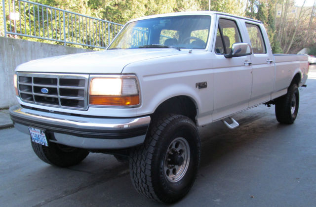 1994 Ford F 350 Xlt Crew Cab Lifted 4x Door 7 5l Clean Low Miles 4wd