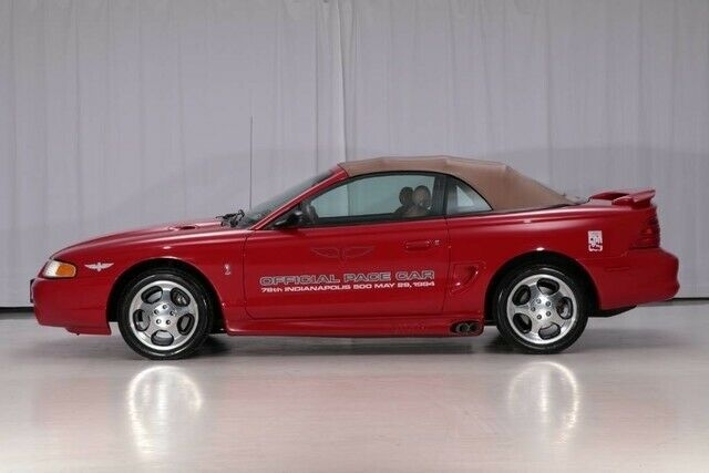 1994 Red Ford Mustang GT Cobra Convertible Convertible with Saddle Indy Leather interior