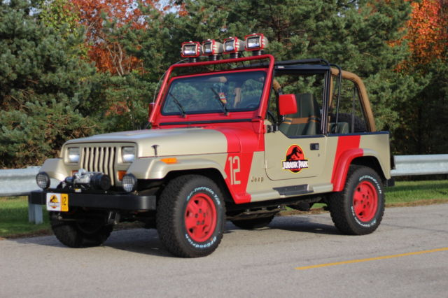 1994 jeep wrangler sahara jurassic park replica 12 very accurate for sale photos. Black Bedroom Furniture Sets. Home Design Ideas
