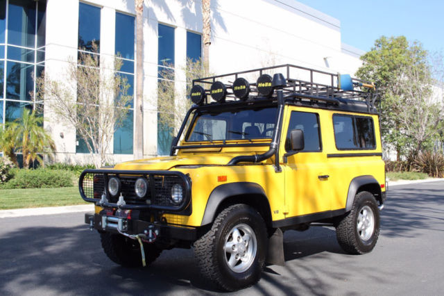 1994 land rover defender 90 d90 d 90 in yellow for sale for Baker motor company land rover