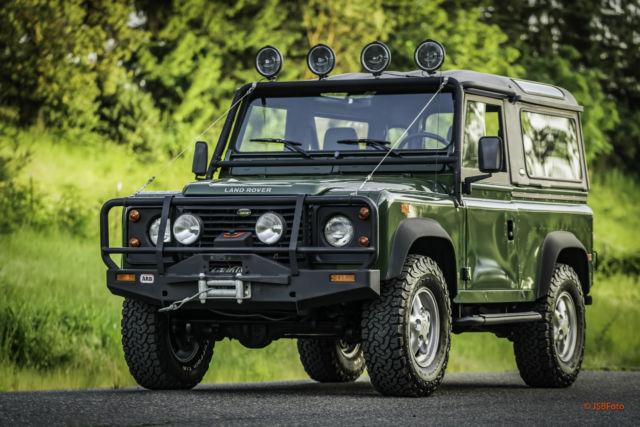 1994 Land Rover Defender 90 D90 NAS Fiberglass factory top AC low ...