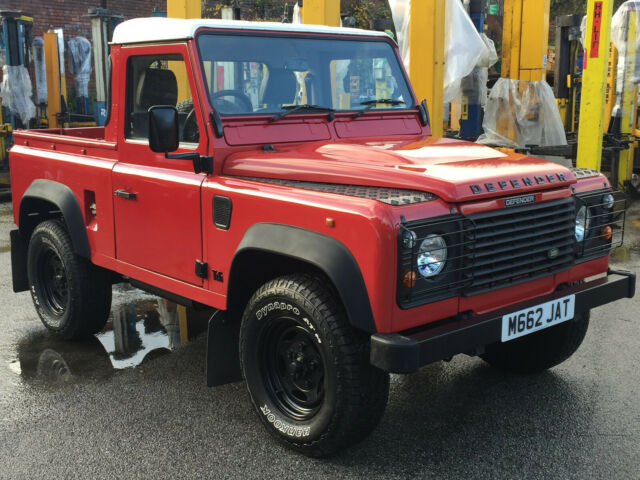 1994 LANDROVER DEFENDER 90 300TDi PICKUP RUTLAND RED XS LEATHER STUNNING TRUCK