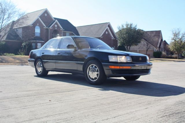 1994 Black Lexus LS Sedan with Tan interior