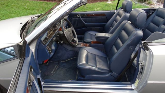 1994 BRILL SILVER Mercedes-Benz E-Class E320 CABRIOLET CONVERTIBLE with SHADOW BLUE interior
