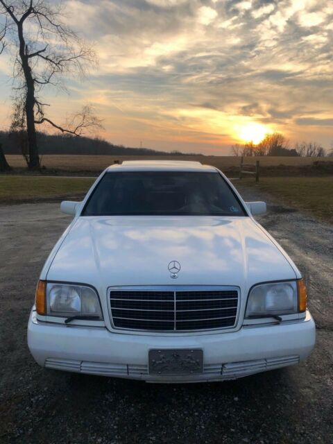 1994 White Mercedes-Benz S-Class Sedan with Black interior