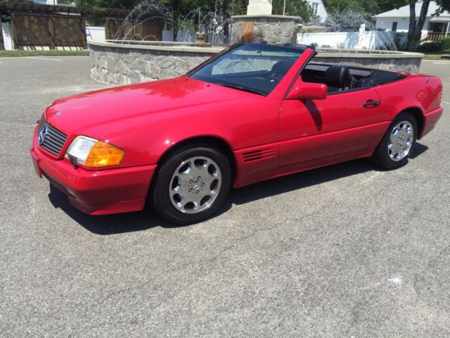 1994 MERCEDES-BENZ SL500 **RED/BLACK - LOW MILES ! HardTop! 2 OWNER CLEAN CARFAX