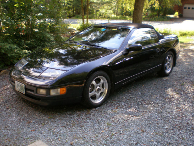 1994 Nissan 300zx Convertible Black With Grey Interior 1 Owner Smoke Free Car