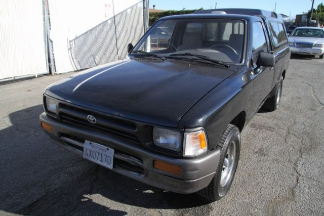 1994 Black Toyota Pickup Standard Cab Pickup with Gray interior
