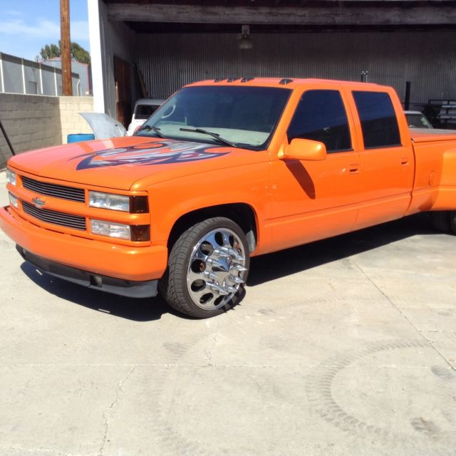 1997 chevy bagged crew cab dually show truck candy paint. Black Bedroom Furniture Sets. Home Design Ideas