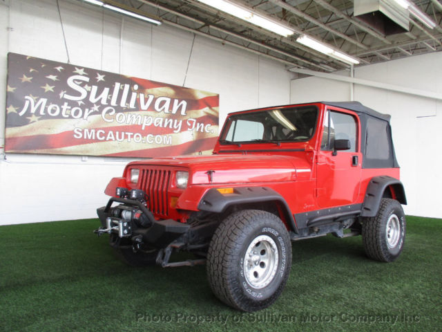 2 dr manual gasoline 2 5l 4 cyl red for sale photos technical rh topclassiccarsforsale com 1997 Jeep Wrangler 2017 Jeep Wrangler