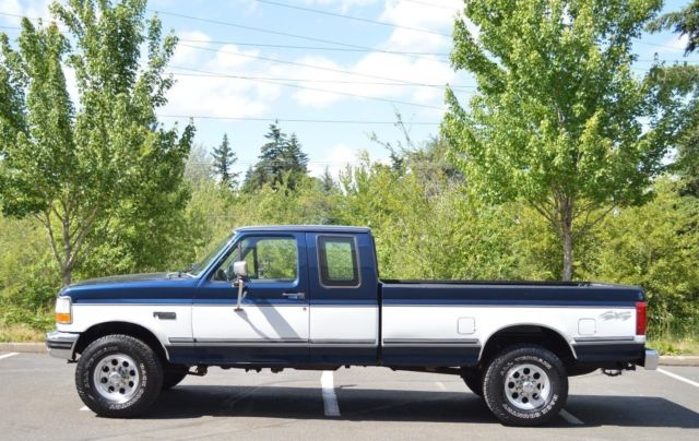 2 OWNER! 1992 FORD F250 EXTENDED CAB LONG BED 7.5L V8 XLT 4X4 ONLY 90,863 MILES