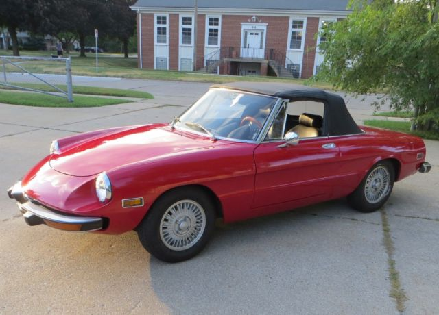 1974 Alfa Romeo Spider 2-Door Convertible
