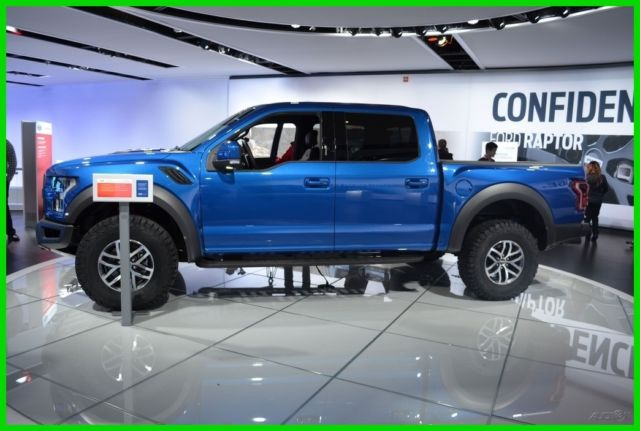 2017 Ford F 150 Raptor Crew Cab Lightning Blue 17