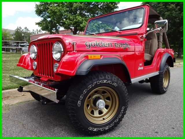 1978 Jeep Wrangler ORIGINAL GOLDEN EAGLE LEVI INTERIOR FLAWLESS RESTO