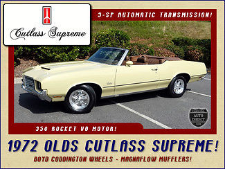 1972 Oldsmobile Cutlass SUPREME CONVERTIBLE - MOSTLY STOCK
