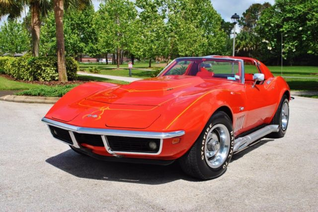 1969 Chevrolet Corvette 427/390hp Numbers Matching 4-Speed T-Tops