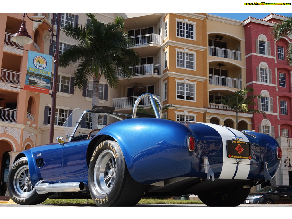 1965 Blue Shelby CSX4000 Convertible with Black interior