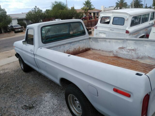1978 Gray Ford F-150 Crew Cab Pickup with Blue interior