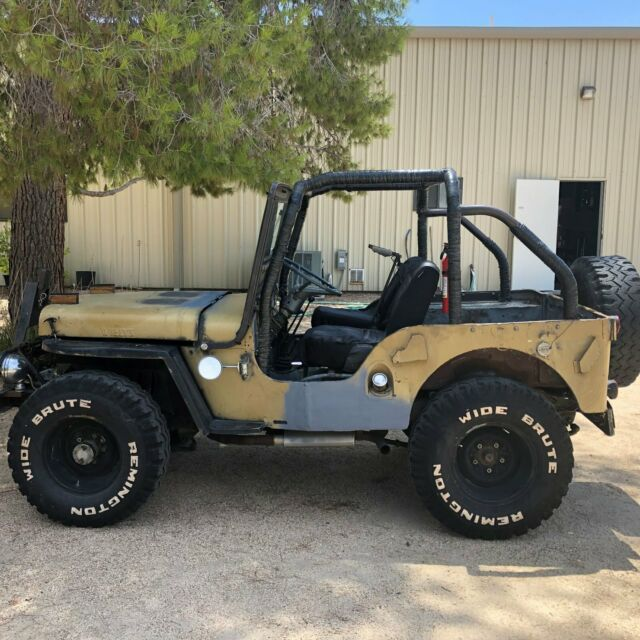 1947 Brown Willys CJ2A Convertible with Gray interior