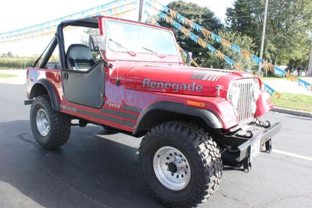 4x4 4wd Cj 7 Lifted Soft Top 33 Inch Mud Tires Red For