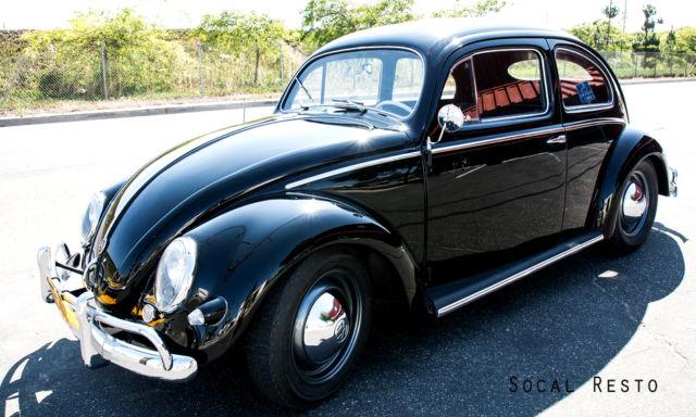 vw bug oval show car black  volkwagen beetle  restoration  sale