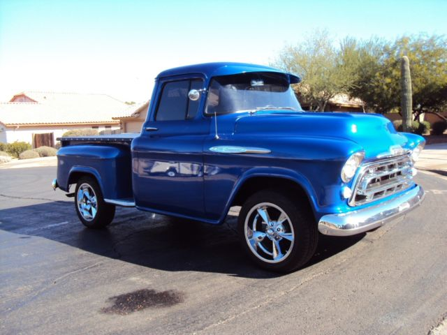 57 chevy pickup s bed 454 big block sweet sunny arizona for sale photos technical. Black Bedroom Furniture Sets. Home Design Ideas