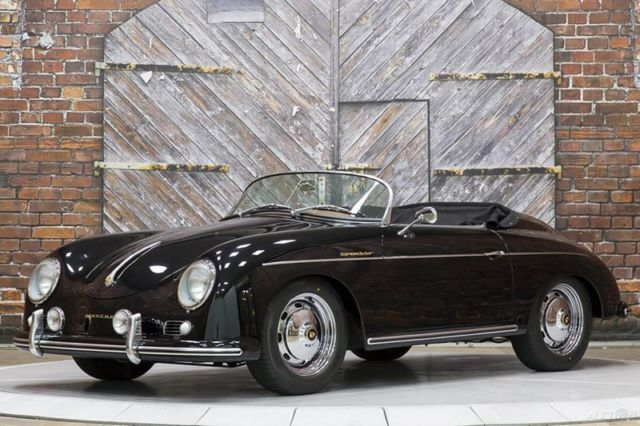 1957 Porsche 356 Speedster Re-Creation Replica Black Cinnamon 131mi