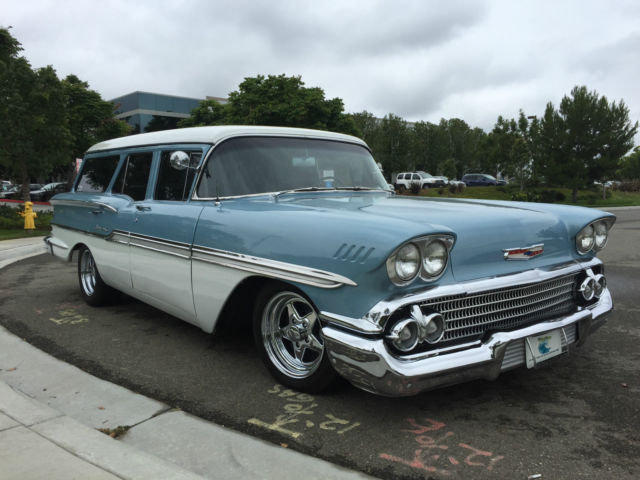58 Chevy Brookwood Wagon Hot Rod Classic Daily Driver For