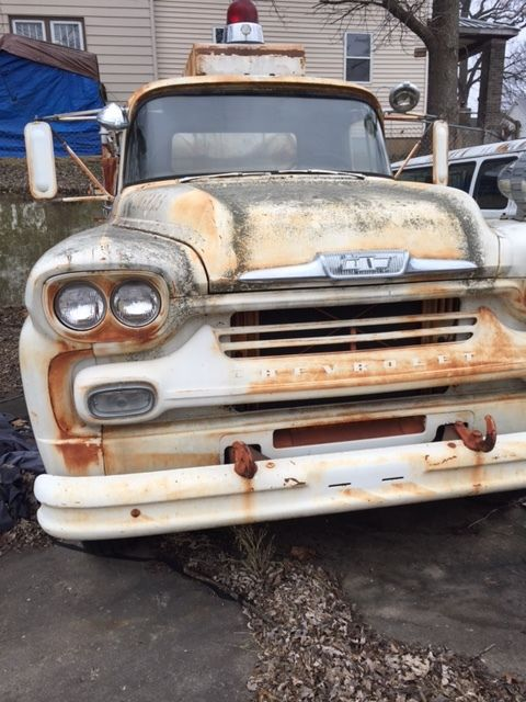 58 Chevy Truck Project Car Fire Barnfind Imca Z28 51 55 57 60 69