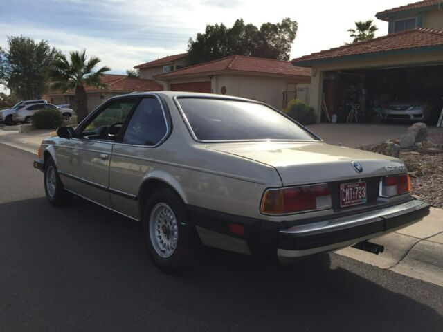 1983 Light Bronze BMW 6-Series Coupe with Black interior