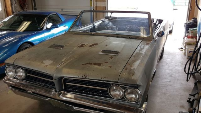 64 1964 Pontiac LeMans Convertible with GTO Hood  similar to
