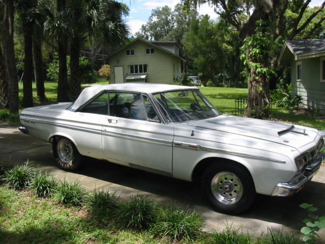 64 PLYMOUTH SPORT FURY BARN FIND SUPER STOCK 440 RACEDRAG CARMUSCLEPRO STREET