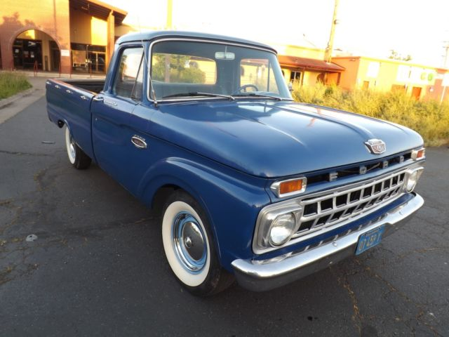 "1966 Ford F-100 No Reserve Unmolested California Pickup ""Old Blue"" V8"