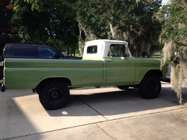 66 GMC 4x4 pickup truck - factory 4x4 with PTO and cold AC