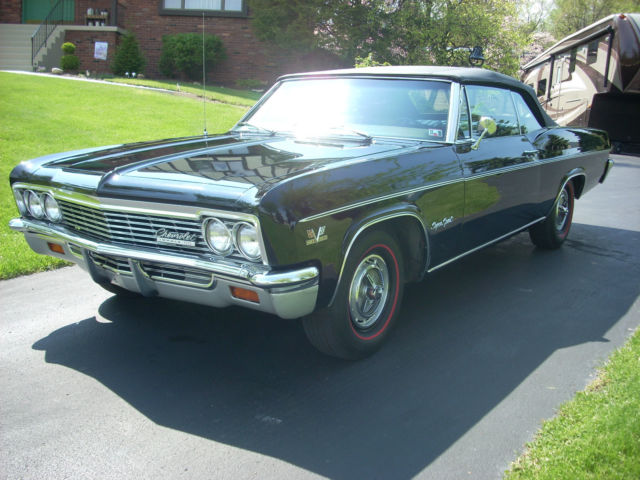 66 impala ss 427 convertible with 27k orig miles and build sheet for sale photos technical. Black Bedroom Furniture Sets. Home Design Ideas