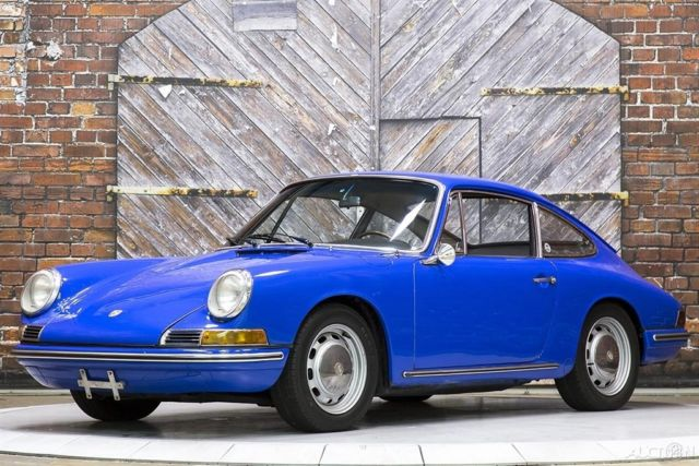 1967 Porsche 912 Golf Blue over Black Bucket Seats Interior