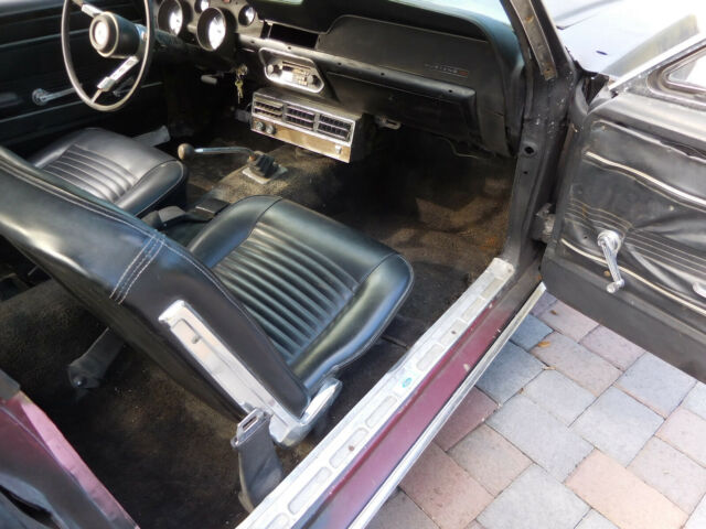 1967 Black Ford Mustang Coupe with Black interior