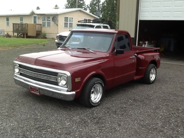 69 chevy pickup short box step side 383 stroker 700r trans 373 poz and new parts for sale. Black Bedroom Furniture Sets. Home Design Ideas