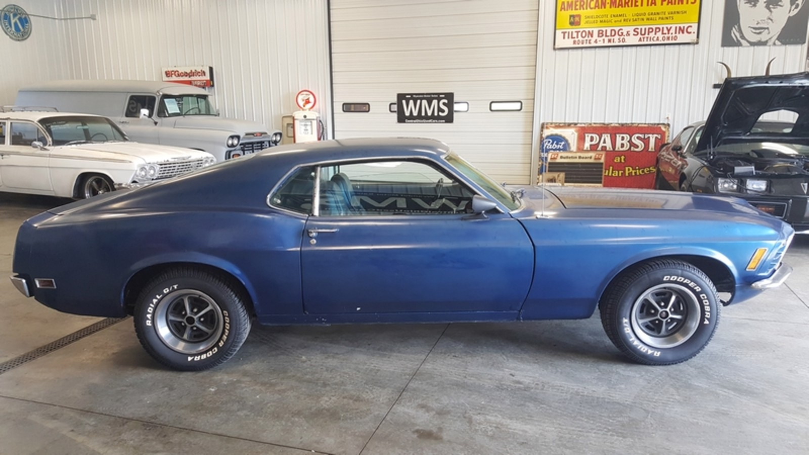 70 blue fastback stang mach 1 auto 302 v8 power classic. Black Bedroom Furniture Sets. Home Design Ideas