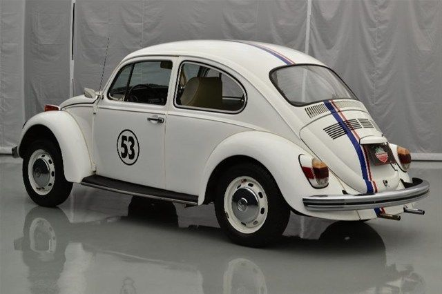 vw beetle white  herbie decals  cc cyl spd  white interior  sale