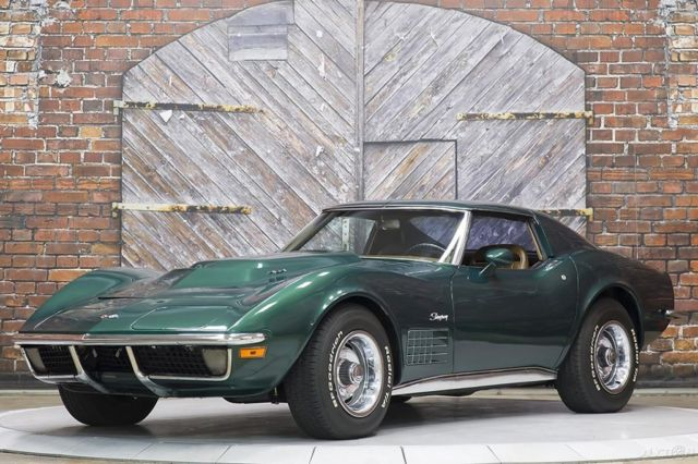 1971 Chevrolet Corvette LS5 4-Speed Brands Hatch Green Saddle Leather