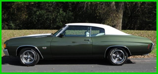 1972 Chevrolet Chevelle Loaded with Factory Options & Original Build Sheet