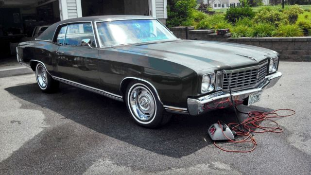 72 chevrolet monte carlo numbers matching 350 2brl original paint very clean for sale photos. Black Bedroom Furniture Sets. Home Design Ideas