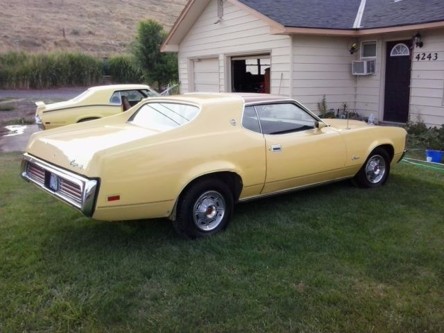 1972 Yellow Mercury Cougar Coupe with Brown interior